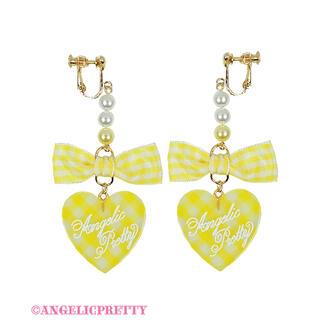 Angelic Pretty - Lovelyギンガムイヤリング  イエロー