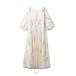 gelato pique - 【新品未使用】ジェラートピケ クリアフラワー柄ロングスリーブドレス