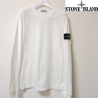 ストーンアイランド(STONE ISLAND)の希少Vネック ワッペンロンT(Tシャツ/カットソー(七分/長袖))