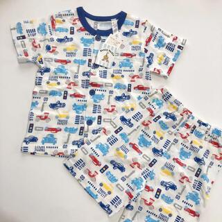 シマムラ(しまむら)のパジャマ 男の子 100 新品 上下 セット 前ボタン 車 クルマ柄 コットン(パジャマ)