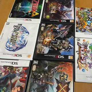 ニンテンドー3DS(ニンテンドー3DS)の 3DS  ソフトセット ゼルダ モンハン 信長(家庭用ゲームソフト)