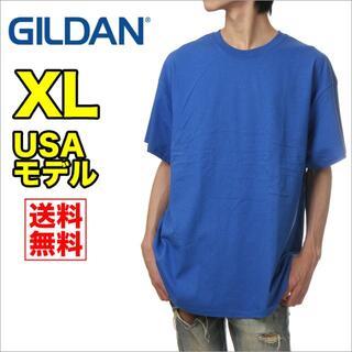 ギルタン(GILDAN)の【新品】ギルダン 半袖 Tシャツ メンズ XL 青 ブルー 無地(Tシャツ/カットソー(半袖/袖なし))