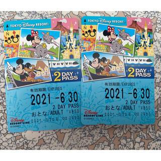 ディズニー(Disney)のディズニー リゾートライン フリー切符 2days(遊園地/テーマパーク)