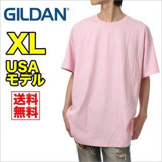 ギルタン(GILDAN)の【新品】ギルダン 半袖 Tシャツ メンズ XL ピンク 無地(Tシャツ/カットソー(半袖/袖なし))