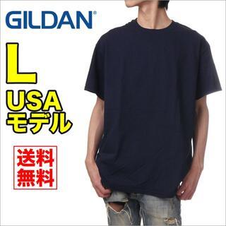 ギルタン(GILDAN)の【新品】ギルダン 半袖 Tシャツ メンズ L 紺 ネイビー 無地(Tシャツ/カットソー(半袖/袖なし))