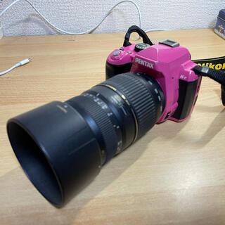 ペンタックス(PENTAX)のpentax k-r + tamron 望遠レンズ ピンク デジタル一眼 カメラ(デジタル一眼)