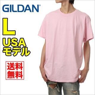 ギルタン(GILDAN)の【新品】ギルダン 半袖 Tシャツ メンズ L ピンク 無地(Tシャツ/カットソー(半袖/袖なし))