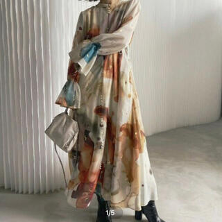Ameri VINTAGE - AmeriVINTAGE 新作完売品 AMELIA INK ART ドレス