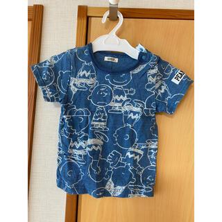 ピーナッツ(PEANUTS)のPEANUTS チャーリーブラウン スヌーピー 半袖 Tシャツ ベビー 90 青(Tシャツ/カットソー)