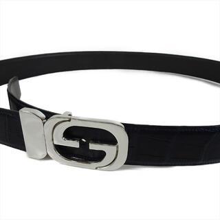グッチ(Gucci)の新品 グッチ バックル 社外ベルト付き クロコダイル GUCCI メンズ(ベルト)