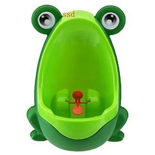 トイレトレーニング 男の子 おまる カエル トイレ (グリーン)(ベビーおまる)