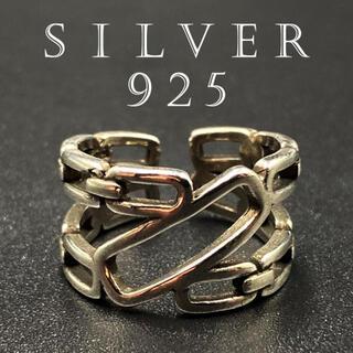 リング 指輪 メンズ ゴールド シルバー お洒落 シルバー925 334A F(リング(指輪))