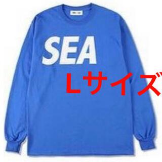 WIND AND SEA L/S T-SHIRT Blue-White Lサイズ