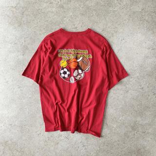 ギルタン(GILDAN)のGILDAN プリントTシャツ えんじ色 バックプリント ワンポイント(Tシャツ/カットソー(半袖/袖なし))