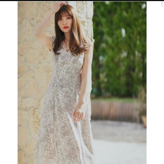 snidel - herlipto Lace Trimmed  Floral Dress pink
