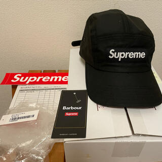 Supreme - Supreme Barbour Waxed Cotton Camp Cap 黒