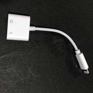 iPhone - iPhone イヤホン 充電 同時 3.5mm 変換アダプタ 2in1