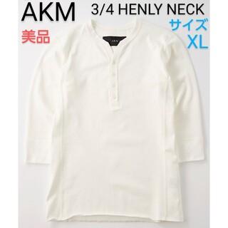 エイケイエム(AKM)のAKM■T062 / 3/4 HENLY NECK■メンズ■XL(Tシャツ/カットソー(七分/長袖))