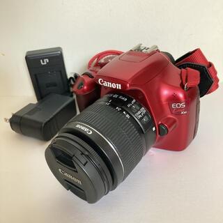 キヤノン(Canon)のCanon kiss X50 レッド レンズキット(デジタル一眼)