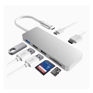 USB C ハブ 7-in-1 USB Type C ハブ