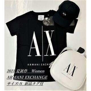 アルマーニエクスチェンジ(ARMANI EXCHANGE)の大人気/ギフトにも/2021夏新作/ A|X ロゴTシャツA/WomenサイズS(Tシャツ(半袖/袖なし))