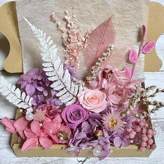 プリザーブドフラワー薔薇2輪★ブライダルとヘザーローズ 花材詰め合わせ