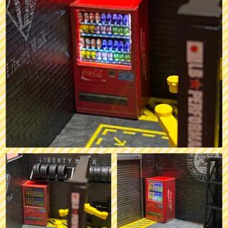 1/64スケール 自動販売機 自販機 ジオラマ 照明付き フィギュアLED照明