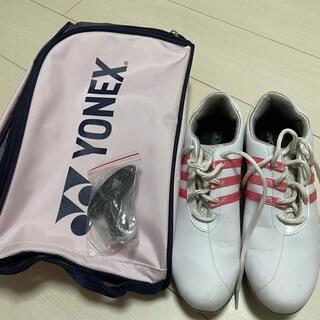 アディダス(adidas)のアディダスゴルフシューズ レディース24.5cm(シューズ)
