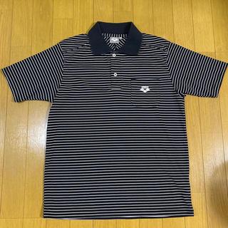 アリーナ(arena)のアリーナ ボーダー 刺繍ロゴポケット ポロシャツ MENサイズ(ポロシャツ)
