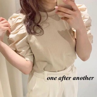 one after another NICE CLAUP - 新品 one after another 袖コンシャスTOP
