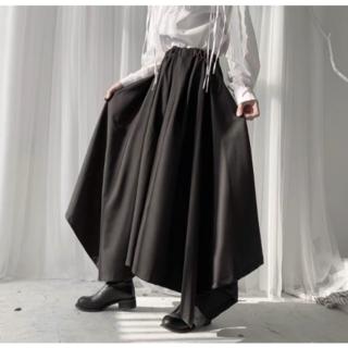 袴パンツ ユニセックス 黒 フリーサイズ ゴシック ヨウジヤマモト好きの方に(サルエルパンツ)