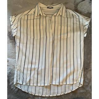 ワンウェイ(one*way)のワンウェイ ストライプ スキッパーシャツ(シャツ/ブラウス(半袖/袖なし))