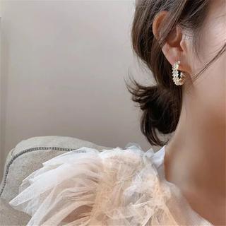 snidel - flower hoop earrings