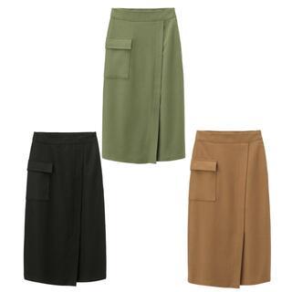 ジーユー(GU)の最終価格♪【GU】XS 新品 ポケットナローミディスカート 3着セット(その他)