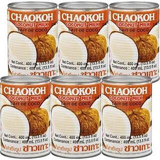 チャオコー ココナッツミルク 400ml ×6個(フルーツ)