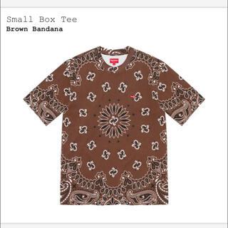シュプリーム(Supreme)の【完全未開封】Small Box Tee【茶/M】(Tシャツ/カットソー(半袖/袖なし))