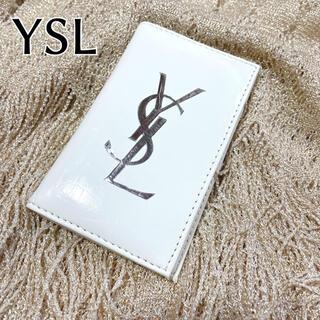イヴサンローランボーテ(Yves Saint Laurent Beaute)のYSL ロゴ入り 名刺入れ ノベルティ 定期入れ カードケース 二つ折り(名刺入れ/定期入れ)