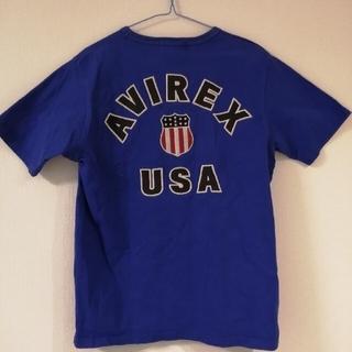 AVIREX - AVIREX Tシャツ ブルー 刺繍