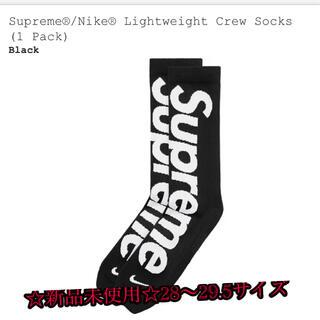 シュプリーム(Supreme)の☆新品☆Supreme Nike Socks 28-29.5 ブラック(ソックス)