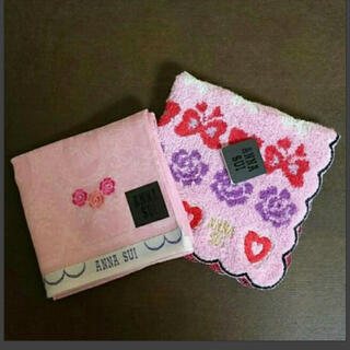 ANNA SUI - ギフト袋入り☆アナスイタオルハンカチ、ハンカチセット新品