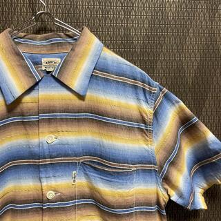 クーティー(COOTIE)のクーティ COOTIE シャツ 半袖 ボーダー ルード アメカジ バイカー(シャツ)