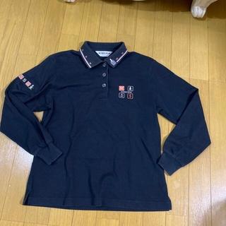 マンシングウェア(Munsingwear)のマンシングウエア ペンギン刺繍ロゴ 長袖ポロシャツ Mサイズ(ウエア)