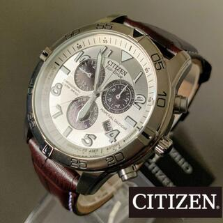 CITIZEN - 【新品】シチズン ソーラー アラーム レザー CITIZEN メンズ腕時計