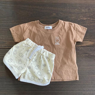 しまむら - ミッフィー Tシャツ+総柄ハーフパンツ 100サイズ