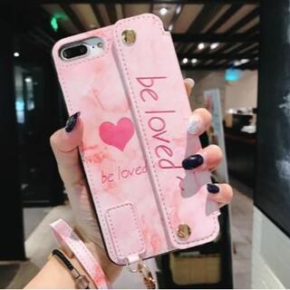 【iPhone 7p/8plus/ピンク】iPhoneケース 多機能スマホカバー