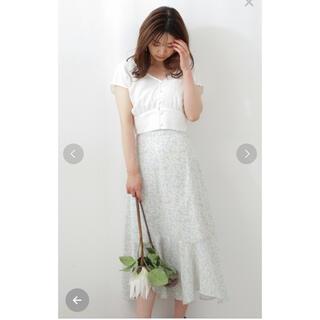 PROPORTION BODY DRESSING - プロポーションボディドレッシングランダムヘムマーメイドフラワープリントスカート