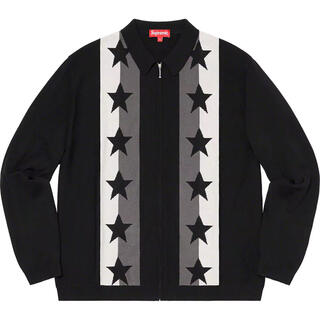 Supreme - Supreme Stars Zip Up Sweater Polo XL