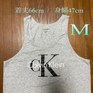 シーケーカルバンクライン(ck Calvin Klein)のカルバンクラインの人気デカロゴ タンクトップ (M)(タンクトップ)