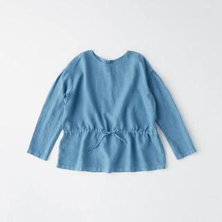 イデー(IDEE)のPOOL いろいろの服 ギャザーブラウス ブルー(シャツ/ブラウス(長袖/七分))