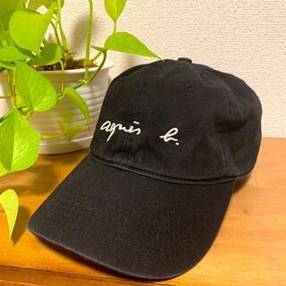 agnes b. - アニエス・ベー✴︎黒 ロゴキャップ 美品
